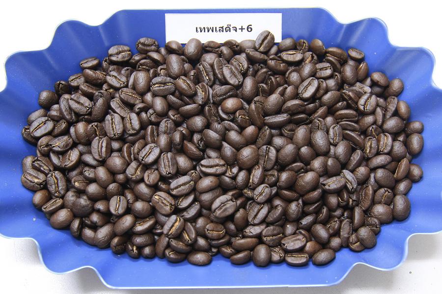 เมล็ดกาแฟคั่วเทพเสด็จคั่วเข้ม