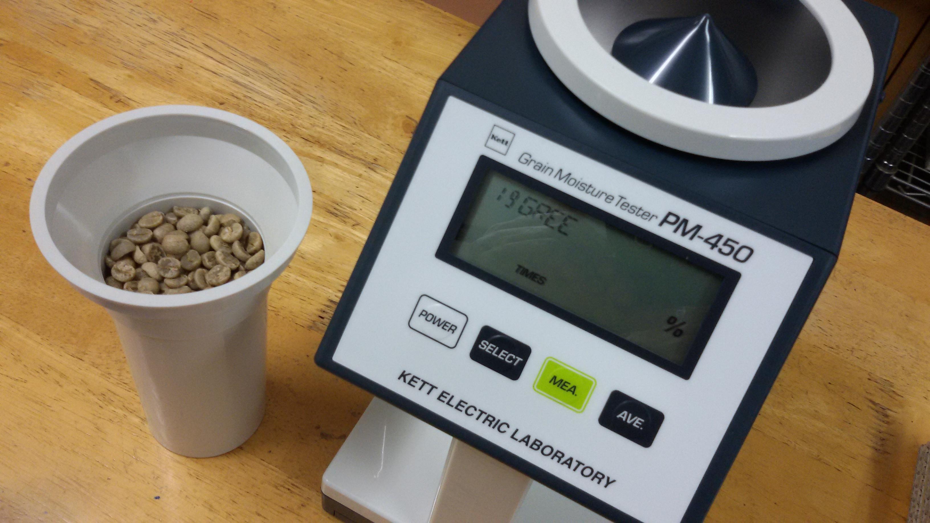 เครื่องวัดความชื้นกาแฟ
