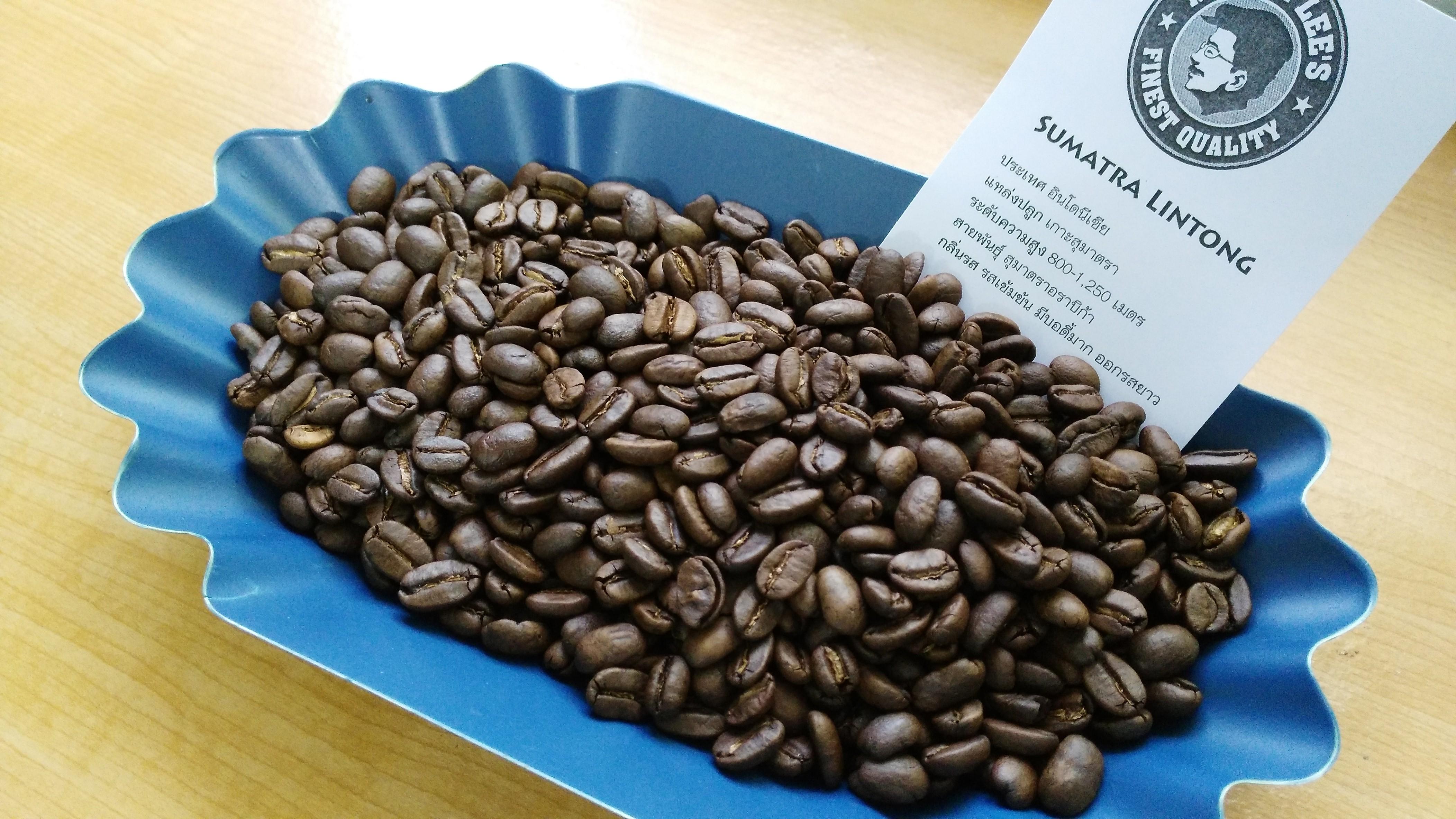 เมล็ดกาแฟคั่วสุมาตราลินตอง (Sumatra Lintong Coffee)
