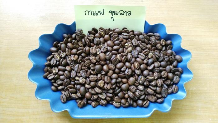 เมล็ดกาแฟคั่วขุนลาว