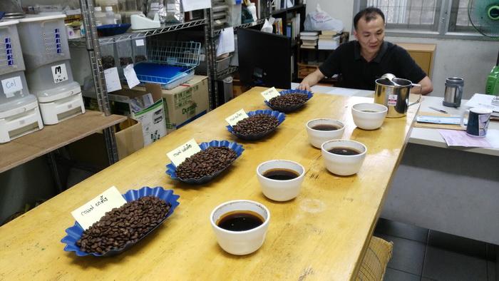 การชิมกาแฟ ( Cupping ) กาแฟไทย 4 แหล่ง